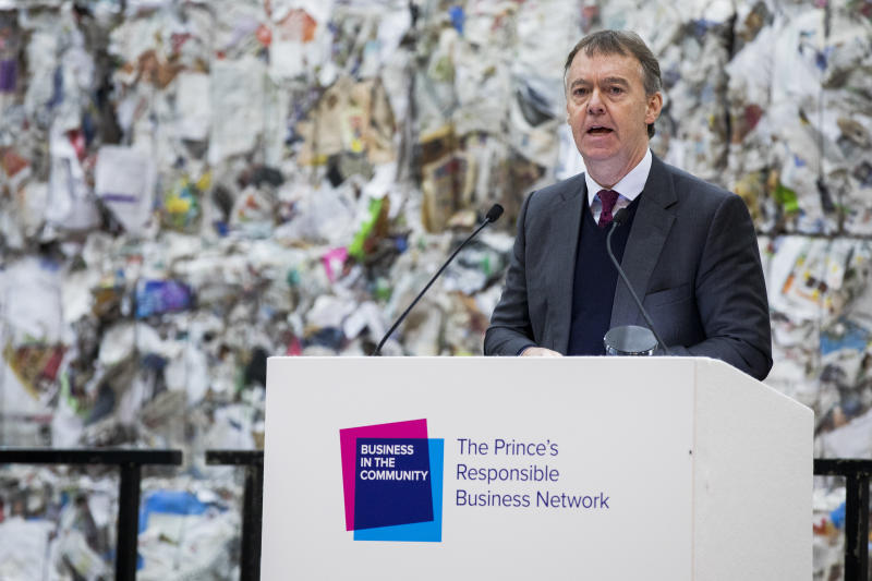 LONDON, ENGLAND - NOVEMBER 22: Jeremy Darroch speaks on stage during a Waste-To-Wealth Summit at Southwark Integrated Waste Management Facility on November 22, 2018 in London, England.The Prince of Wales, President and Royal Founding Patron of Business in the Community (BITC.), will attend BITC's Waste-to-Wealth Summit. BITC is convening the Waste-to-Wealth Summit at which 200 leaders from business, government, academia and civil society will come together to tackle one of the challenges of our time; to commit to work collectively to create new solutions that will increase resource productivity and reduce avoidable waste. (Photo by Tristan Fewings - WPA Pool/Getty Images)