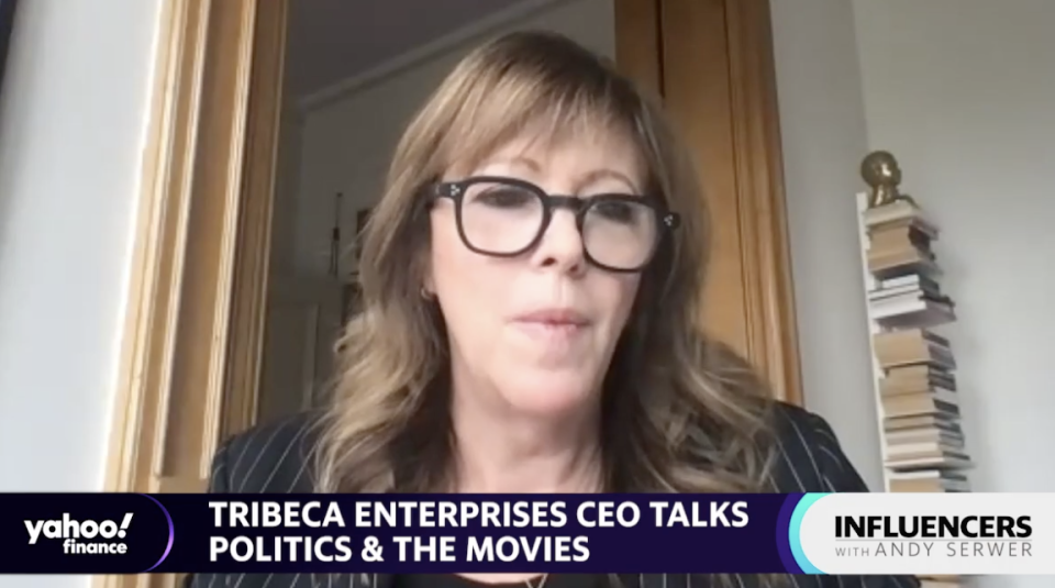 Tribeca Enterprises CEO Jane Rosenthal speaks with Yahoo Finance Editor-in-Chief Andy Serwer on