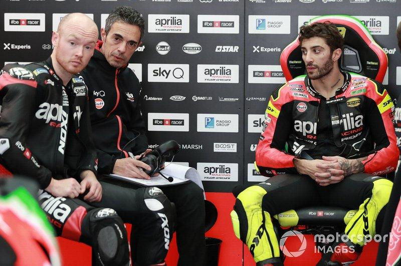 "Bradley Smith, Aprilia Racing Team Gresini, Andrea Iannone, Aprilia Racing Team Gresini<span class=""copyright"">Gold and Goose / Motorsport Images</span>"