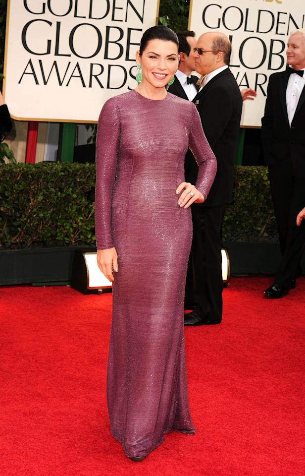 Julianna Marguiles arrives at the 69th Annual Golden Globe Awards in Beverly Hills, California, on January 15