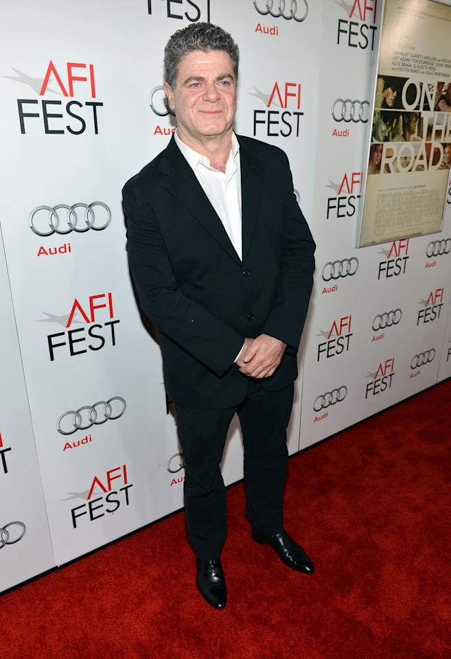 """HOLLYWOOD, CA - NOVEMBER 03: Composer Gustavo Santaolalla arrives at the """"On The Road"""" premiere during the 2012 AFI Fest presented by Audi at Grauman's Chinese Theatre on November 3, 2012 in Hollywood, California.  (Photo by Alberto E. Rodriguez/Getty Images for AFI)"""