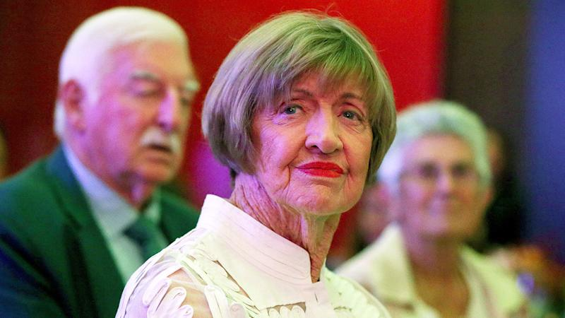 Seen here, Margaret Court attends the 2019 Fed Cup dinner.