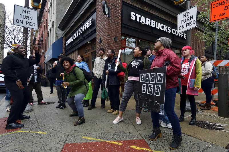 The two black men arrested at a Starbucks in Philadelphia last week while