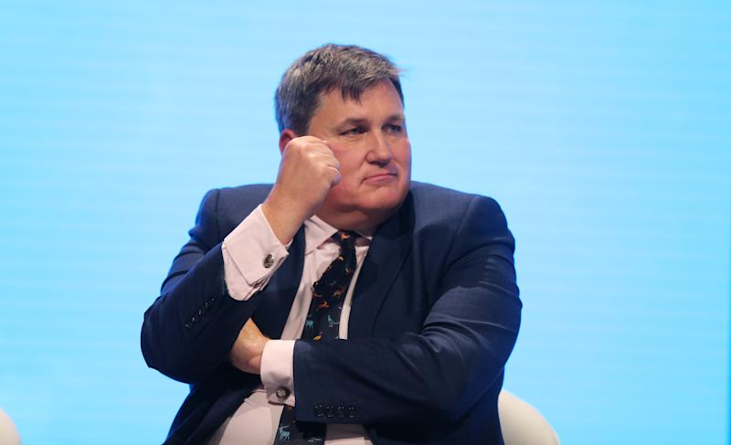 Housing Minister Kit Malthouse speaking in a panel on the third day of the Conservative Party Conference being held at the Manchester Convention Centre. Picture dated: Tuesday October 1, 2019. Photo credit should read: Isabel Infantes / EMPICS Entertainment.
