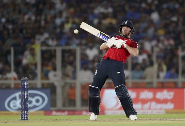 England's Jonny Bairstow attempts to play a rising delivery (Aijaz Rahi/AP)