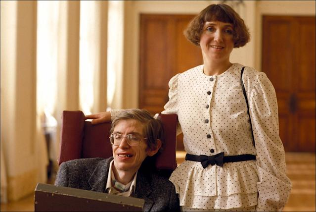 <p>Stephen Hawking with his then wife Jane in Paris on March 3, 1989 in Paris, France. (Photo: Gilles Bassignac/Gamma-Rapho via Getty Images) </p>