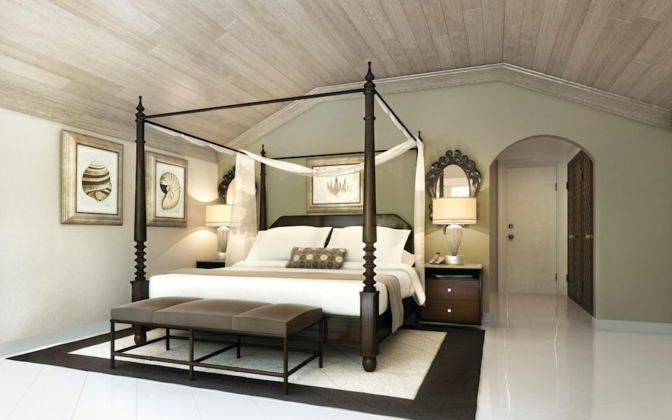 A bedroom at the Colony Club