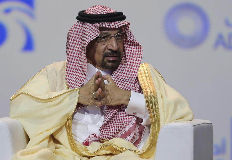 Saudi energy minister says oil market on 'right track'
