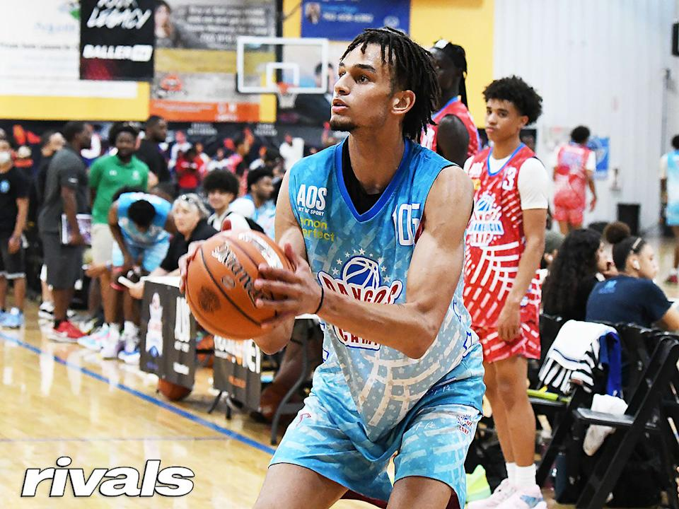 Dereck Lively at the Pangos All-American camp in Las Vegas. (Photo courtesy: Nick Lucero/Rivals.com)