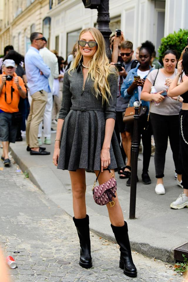 """<p>Transition your favorite long-sleeve summer dresses into fall by pairing them with mid-calf or knee-high boots. </p><p><strong>Get the look: Prada</strong> leather knee-high boots, $950, <a href=""""https://www.net-a-porter.com/us/en/product/1172598/prada/40-leather-knee-boots"""" target=""""_blank"""">net-a-porter.com</a>.</p><p><a class=""""body-btn-link"""" href=""""https://go.redirectingat.com?id=74968X1596630&url=https%3A%2F%2Fwww.net-a-porter.com%2Fus%2Fen%2Fproduct%2F1172598%2Fprada%2F40-leather-knee-boots&sref=http%3A%2F%2Fwww.harpersbazaar.com%2Ffashion%2Fstreet-style%2Fg7872%2Ffall-autumn-outfits%2F"""" target=""""_blank"""">SHOP NOW</a></p>"""