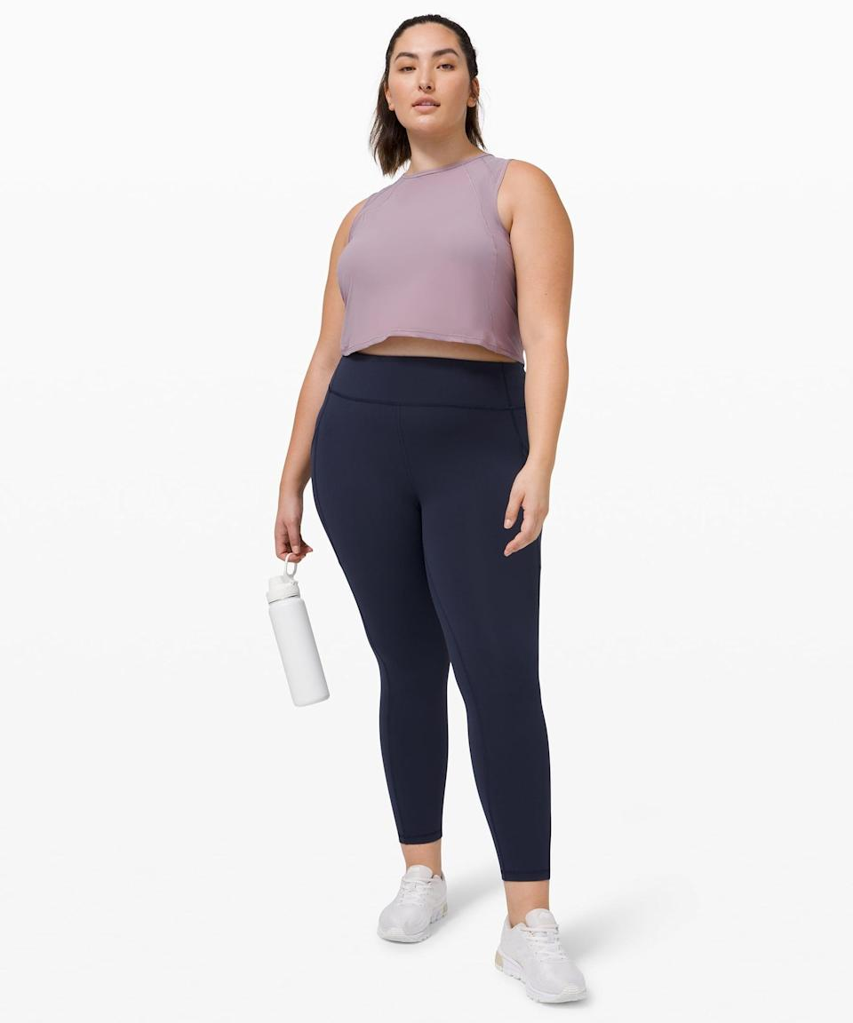 "<p>Whatever you choose to wear when playing tennis, make sure it has pockets! That way, you can store extra balls. The <span>Lululemon Invigorate High-Rise Tight 25""</span> ($128) is one of our staples.</p>"