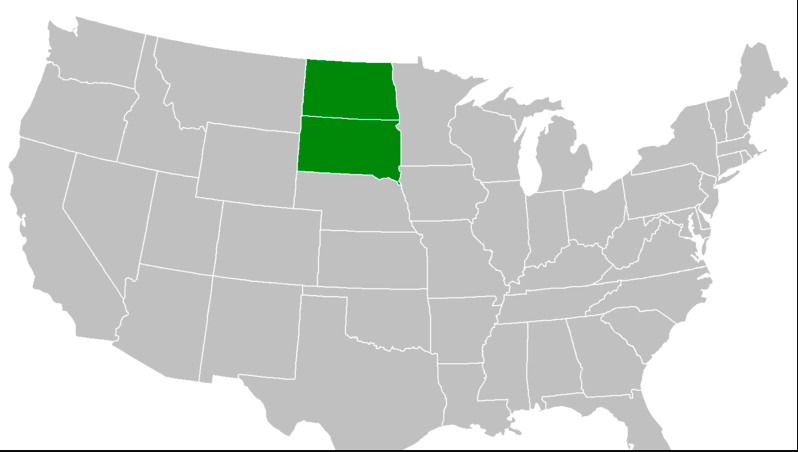 """More than 5,000 people say they'd like to see North and South Dakota merge into a new state called """"MegaKota."""" (Change.org)"""