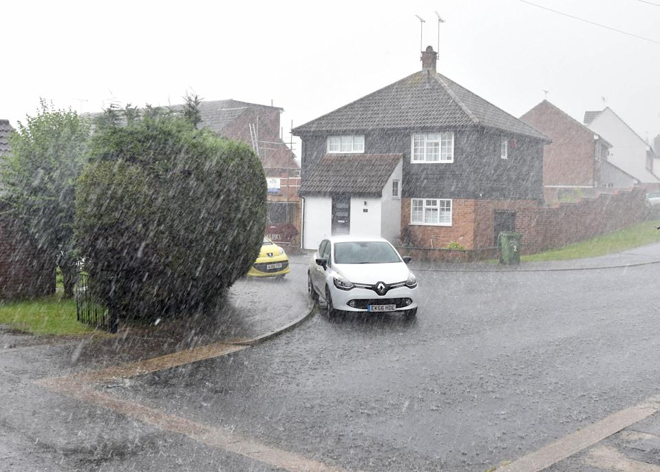 Billericay in Essex was among the places hit by heavy downpours on Tuesday (PA)