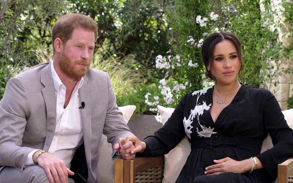 The Sussexes's interview with Oprah Winfrey will air in the US over the weekend - CBS