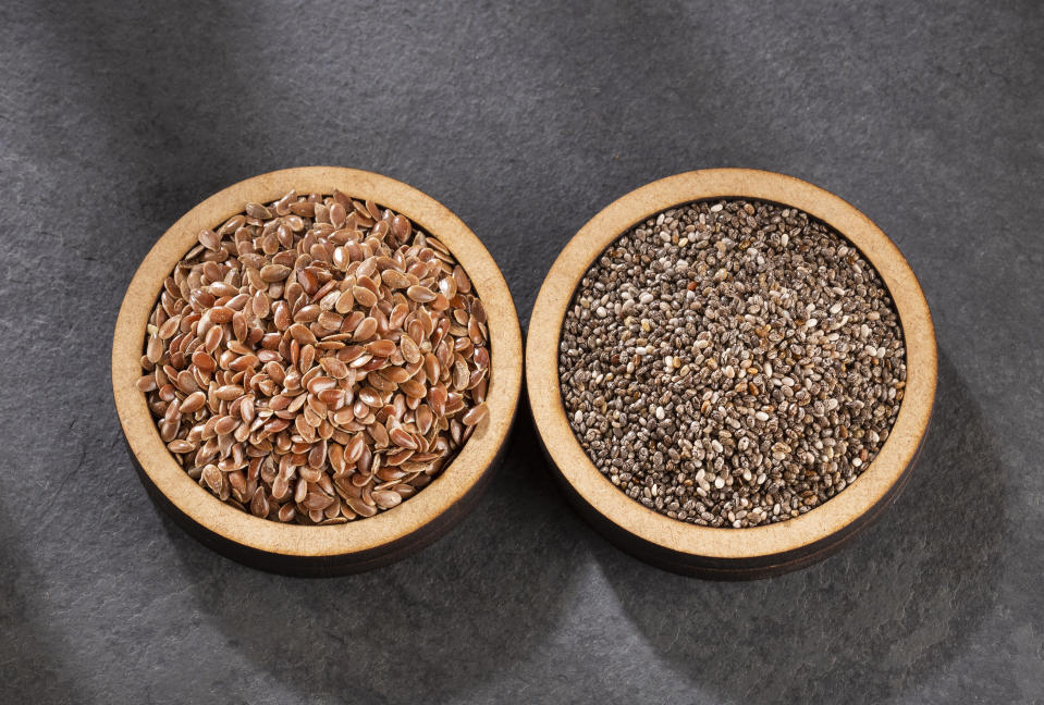 Organic chia and linseed seeds
