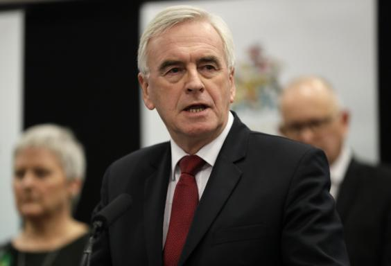 John McDonnell is sticking to the party line by insisting Labour lost the election due to Brexit (AP)