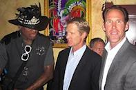 """Former Bulls Steve Kerr and Jud Buechler celebrated the induction of Rodman and Tex Winter. Said Kerr of Rodman: """"A lot of guys work very hard out there, but he worked harder."""""""