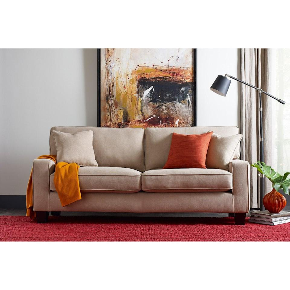 <p>This <span>Serta Palisades Sofa</span> ($567) looks so comfortable, you'll find yourself taking naps on it.</p>