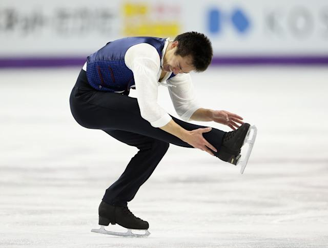 LONDON, ON - MARCH 15: Patrick Chan of Canada competes in the Mens Free Skating during the 2013 ISU World Figure Skating Championships at Budweiser Gardens on March 15, 2013 in London, Canada. (Photo by Ronald Martinez/Getty Images)