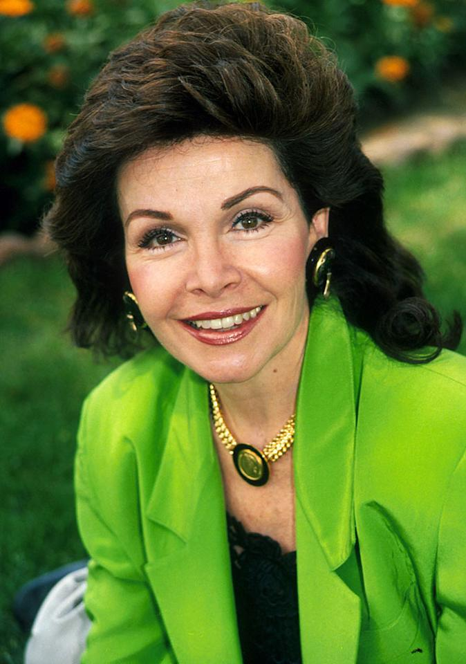 File photo taken 4/10/90 of Annette Funicello at her home in Los Angeles, California.