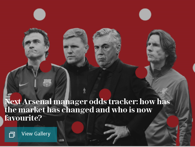 Next Arsenal manager odds tracker: how has the market has changed and who is now favourite?