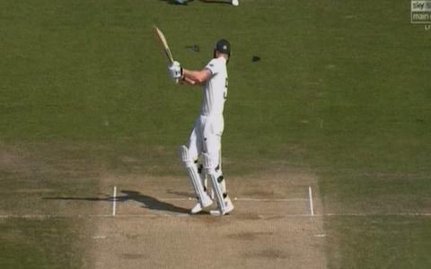 Stokes takes a blow to the head - Credit: Sky Sports