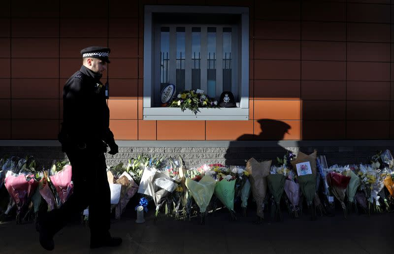 Suspect in fatal UK police officer shooting in critical condition