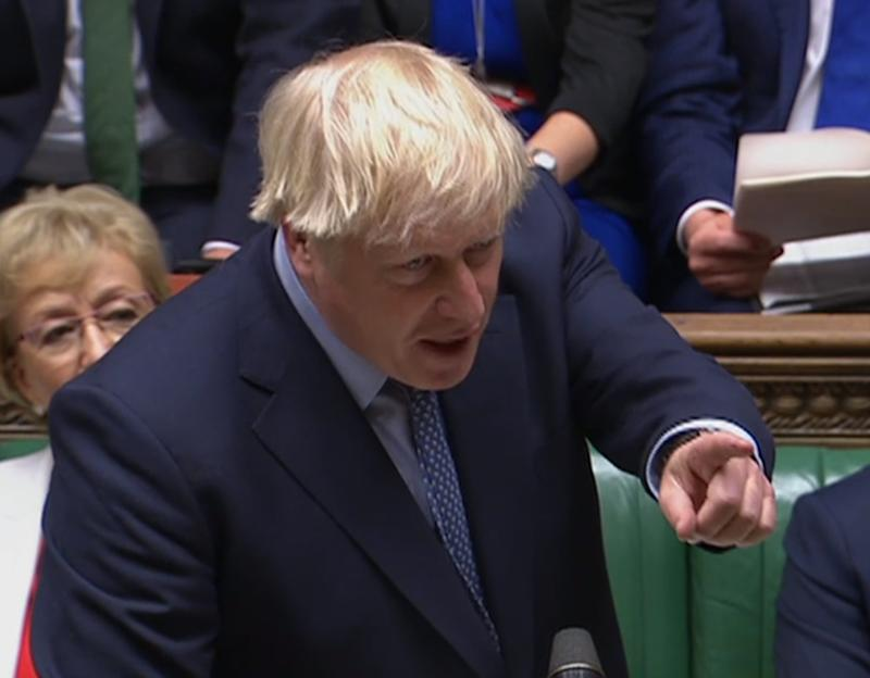 Prime Minister Boris Johnson speaks in the House of Commons, London, after judges at the Supreme Court ruled that his advice to the Queen to suspend Parliament for five weeks was unlawful.