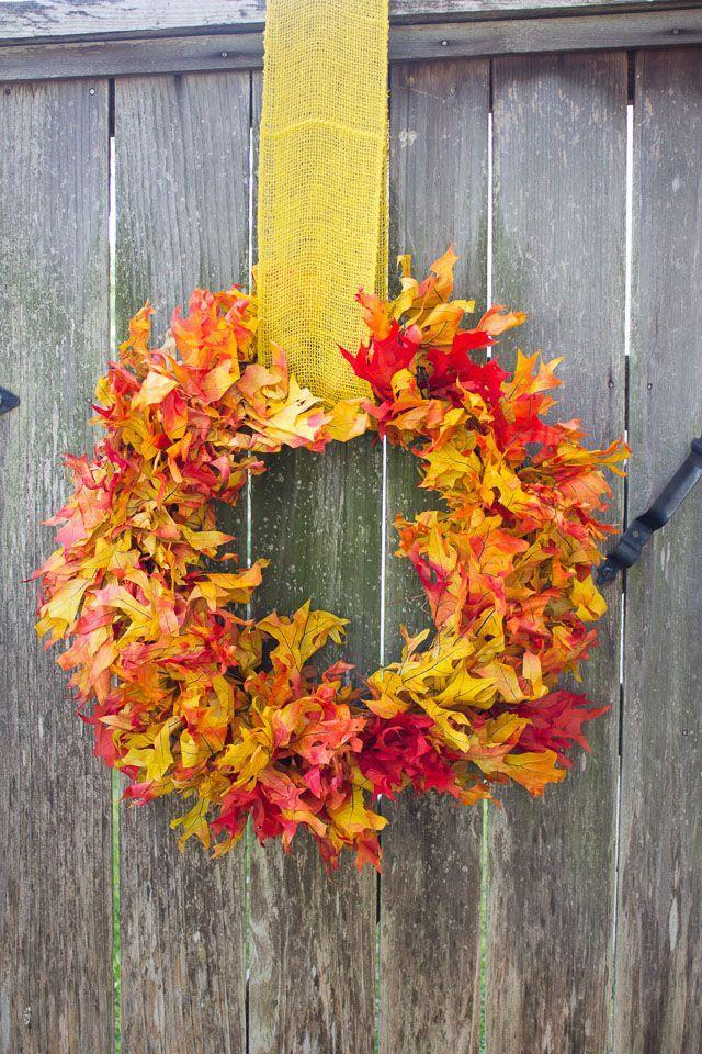 """<p>Channel the most beautiful part of fall—the changing colors of leaves—with this easy tutorial.</p><p><strong>Get the tutorial at <a href=""""http://www.designimprovised.com/2014/11/fall-wreath-ideas.html"""" rel=""""nofollow noopener"""" target=""""_blank"""" data-ylk=""""slk:Design Improvised"""" class=""""link rapid-noclick-resp"""">Design Improvised</a>.</strong> </p>"""