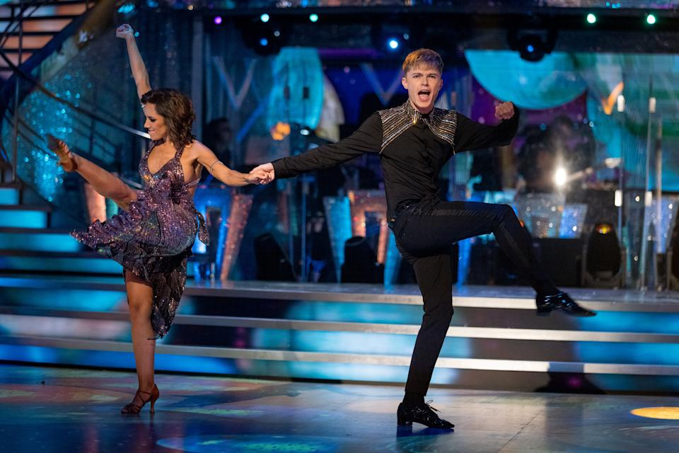 HRVY is partnered with Janette Manrara on the BBC show. (BBC/Guy Levy)