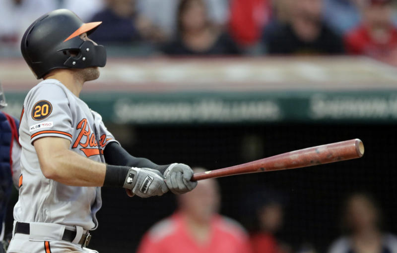Kipnis homers twice, Indians hammer Orioles 14-7
