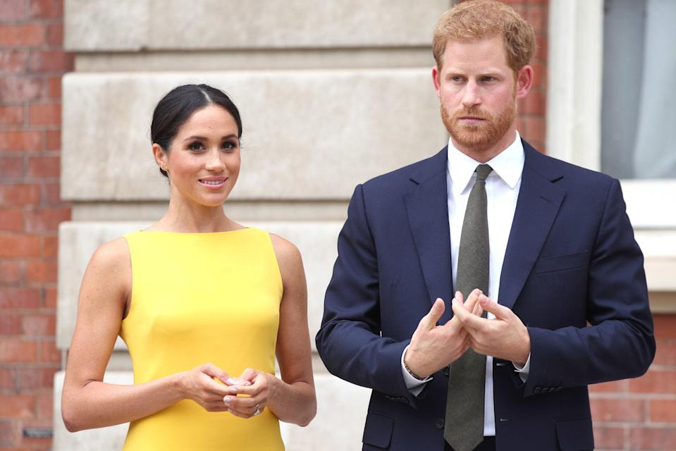 Harry and Meghan in London in July 2018 (PA)