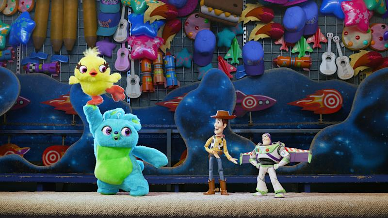 The 'Key & Peele' stars voice Ducky and Bunny respectively in 'Toy Story 4' (Photo: Walt Disney Studios Motion Pictures / courtesy Everett Collection)
