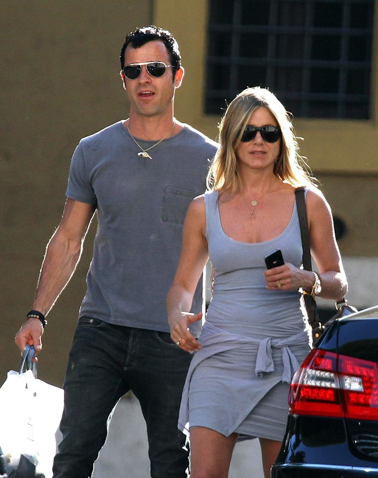 "Jennifer Aniston was ""totally shocked"" when Justin Theroux proposed in Rome, and asked her ""to spend the rest of her life with him,"" reports <i>OK!</i> And while Aniston ""told him she loves him and wants to marry him,"" the actress ""said no,"" reveals the mag. For what ""upset"" her, and why Aniston surprisingly ""turned him down,"" log on to <a target=""_blank"" href=""http://www.gossipcop.com/jennifer-aniston-turns-down-justin-theroux-proposal-rome-rejects-engagement/"">Gossip Cop</a>."