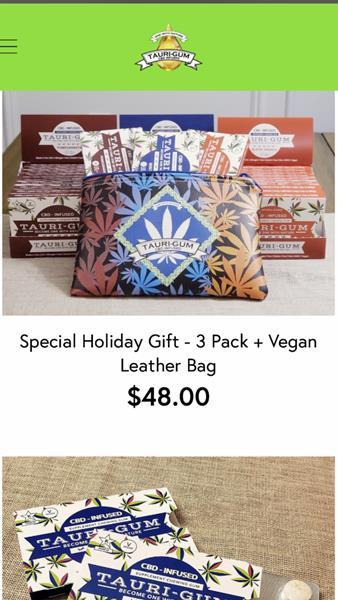TauriGum:Snapshot of Holiday Special – from E-Commerce Site