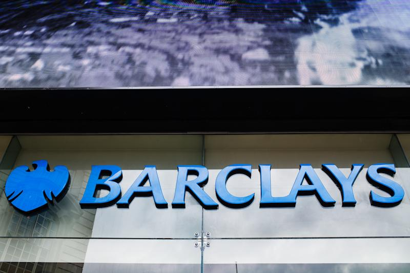 A branch of Barclays bank stands in Piccadilly Circus in London, England, on July 26, 2019. Four major UK banks, including Barclays, are set to release interim figures over the coming days. Half-year results for Lloyds Banking Group are due out on July 31, for Barclays on August 1, for the Royal Bank of Scotland (RBS) on August 2 and for HSBC on August 5. (Photo by David Cliff/NurPhoto via Getty Images)