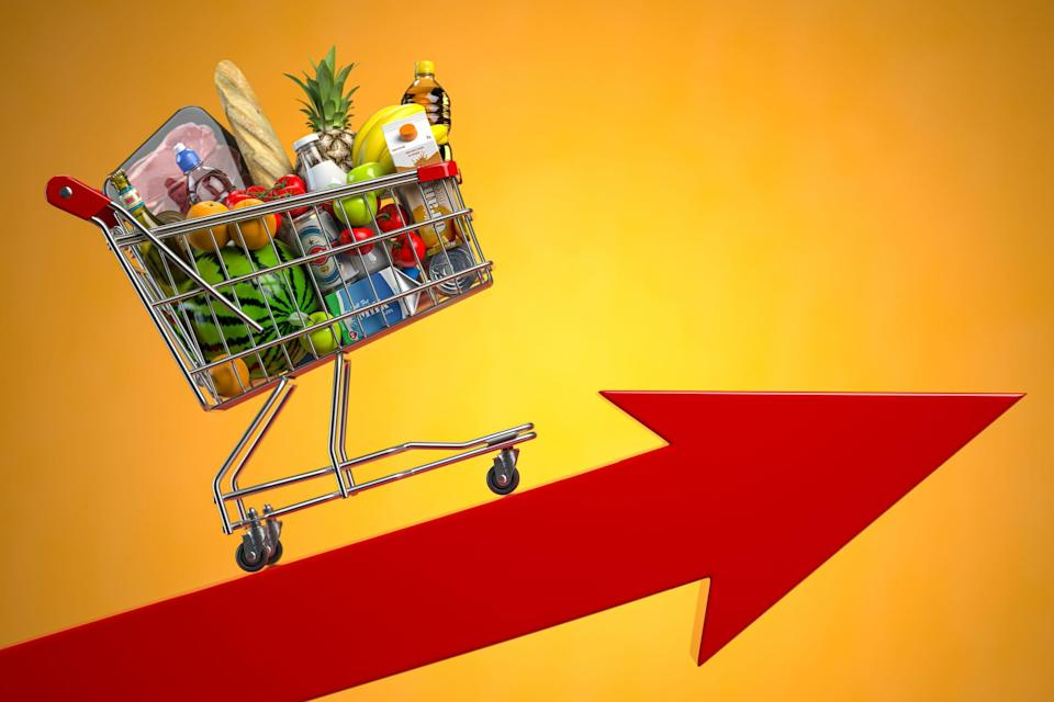 Food prices have been rising more sharply.