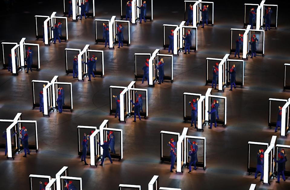 <p>Performers entertain during the Opening Ceremony of the PyeongChang 2018 Winter Olympic Games at PyeongChang Olympic Stadium on February 9, 2018 in Pyeongchang-gun, South Korea. (Photo by Richard Heathcote/Getty Images) </p>