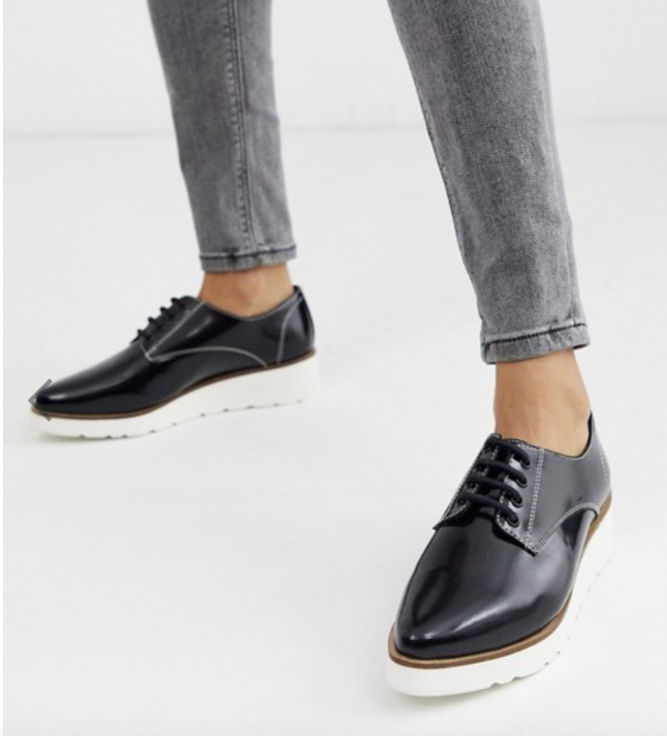 ASOS Majesty leather pointed lace-up flats, S$59.29 (was S$74.11). PHOTO: ASOS