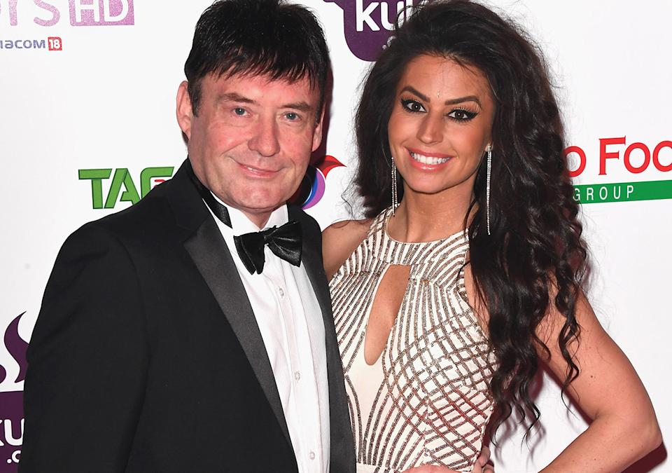 Jimmy White and Jade Slusarczyk, pictured here at The British Curry Awards in 2017.