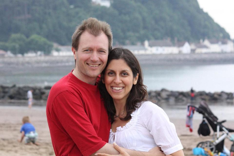 <p>Nazanin Zaghari-Ratcliffe, who has been detained in Iran since 2016, and her husband Richard</p>PA