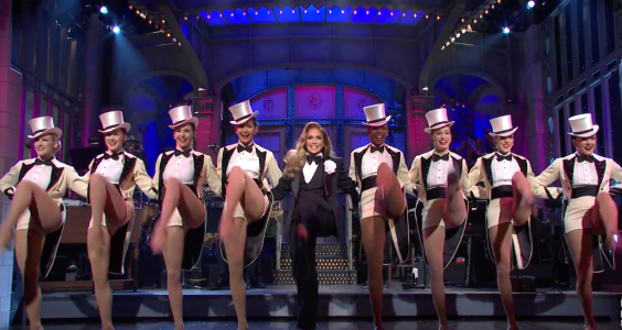 Jennifer Lopez dances with the Radio City Rockettes (SNL)