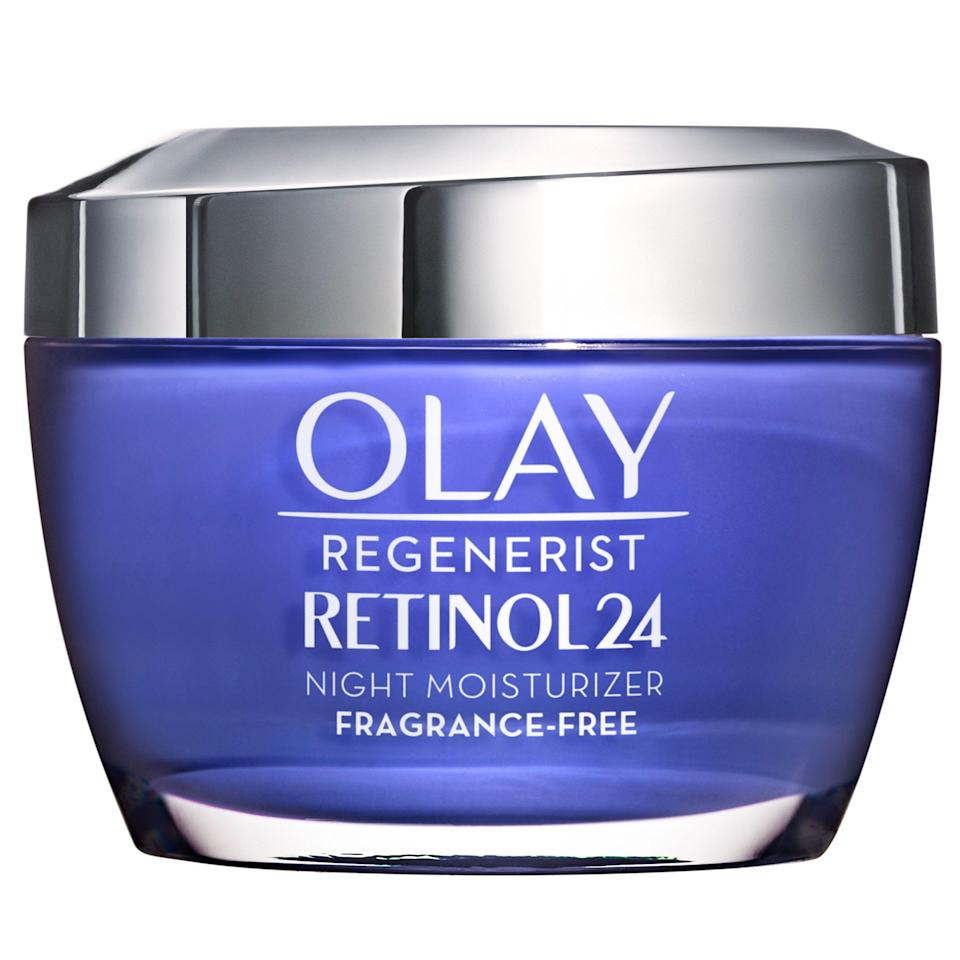 """<p><strong>Olay</strong></p><p>walmart.com</p><p><strong>$28.94</strong></p><p><a href=""""https://go.redirectingat.com?id=74968X1596630&url=https%3A%2F%2Fwww.walmart.com%2Fip%2FOlay-Regenerist-Retinol-24-Night-Moisturizer-Fragrance-Free-1-7-oz%2F115781533&sref=https%3A%2F%2Fwww.goodhousekeeping.com%2Fbeauty%2Fanti-aging%2Fg34520642%2Fbest-collagen-creams%2F"""" rel=""""nofollow noopener"""" target=""""_blank"""" data-ylk=""""slk:Shop Now"""" class=""""link rapid-noclick-resp"""">Shop Now</a></p><p>GH Seal star Olay's overnight moisturizer with retinol to build collagen won the GH Beauty Lab's <a href=""""https://www.goodhousekeeping.com/beauty/anti-aging/g19502310/best-drugstore-night-creams/"""" rel=""""nofollow noopener"""" target=""""_blank"""" data-ylk=""""slk:anti-aging night cream"""" class=""""link rapid-noclick-resp"""">anti-aging night cream</a> test thanks to measurable firming, wrinkle-reducing, and softening results. The <strong>cream increased skin's firmness by 27%</strong> over four weeks, according to calculations with the Lab's Cutometer machine, and 100% of testers reported it made their face feel softer. """"Skin was firmer and smoother each morning,"""" a tester said.</p>"""