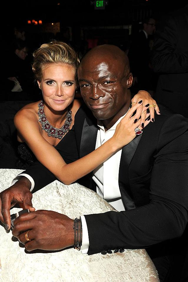 """Heidi Klum cozied up to her honey Seal. Frazer Harrison/<a href=""""http://www.gettyimages.com/"""" target=""""new"""">GettyImages.com</a> - August 29, 2010"""