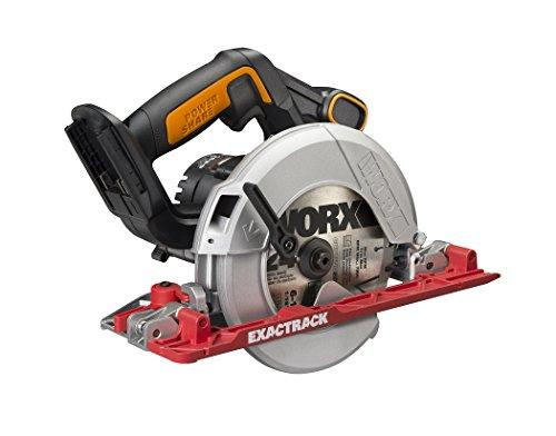 """<p><strong>Worx</strong></p><p>amazon.com</p><p><strong>$124.99</strong></p><p><a rel=""""nofollow"""" href=""""http://www.amazon.com/dp/B07CQ5GBS1/"""">BUY NOW</a></p><p>Making long, perfectly straight cuts with a circular saw can be frustratingly difficult, unless you've got the new WORX Cordless ExacTrack Circular Saw. Built into the saw shoe is a guide that pivots up and out of the way, allowing you to clamp a straightedge directly on the cut line. There's no need to measure the offset distance from the blade to the edge of the shoe. Simply raise the ExacTrack guide and steer the saw along the straightedge. The blade will then cut flush against the straightedge and right on the line.</p>"""