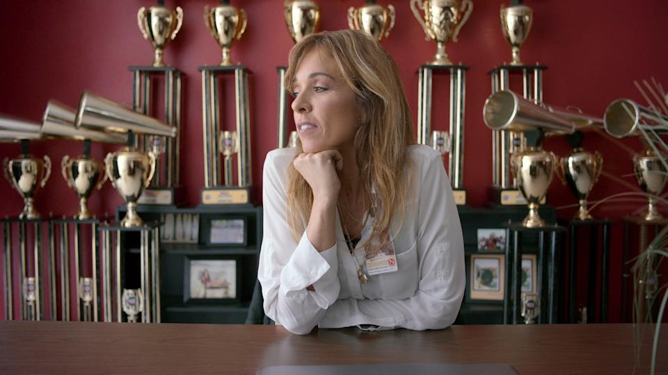 """Monica Aldama, the coach of Navarro College's nationally-renowned cheerleading team, starred in the Netflix documentary series """"Cheer,"""" which followed the team's journey to win its 14th national championship."""