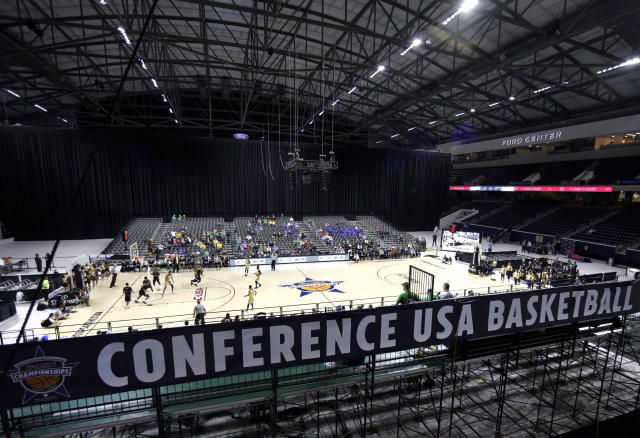 Conference USA has switched up how it will schedule its conference basketball games next year, hoping to land more than one team in the NCAA Tournament. (AP Photo/Tony Gutierrez)