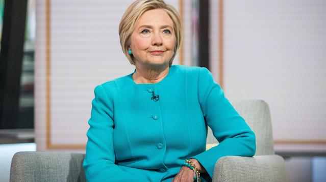 Hillary Clinton opened the door to possibly questioning whether Donald Trump was legitimately elected president, depending on the outcome of investigations into Russia's role in the 2016 campaign.
