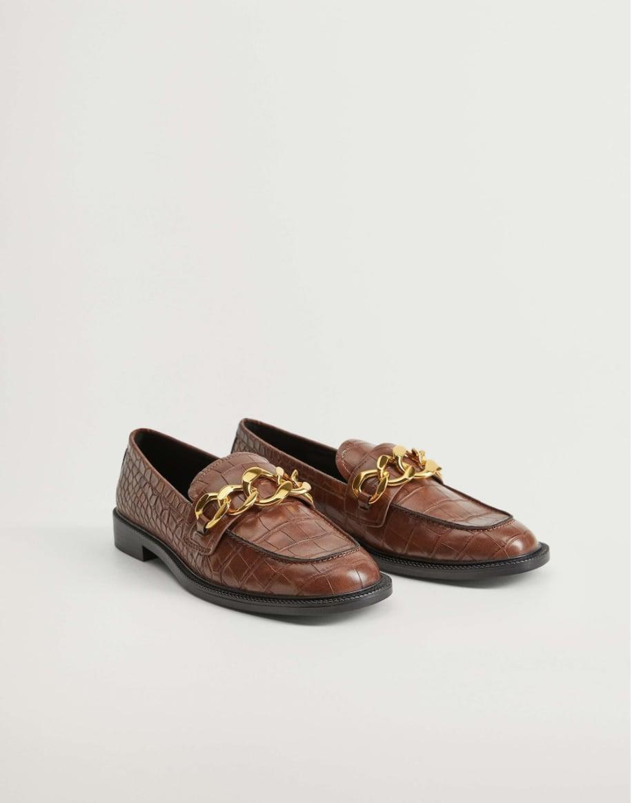 <p>You'll wear these textured <span>Mango Chain Loafers</span> ($50, originally $80) every time you go out. They are so easy to throw on.</p>