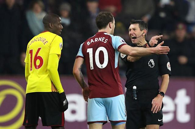 <p>Burnley secured a hard-fought 1-0 victory in an end-to-end affair against a resilient 10-man Watford side at Turf Moor on Saturday. </p><p>Despite the Hornets starting the clash like a house on fire, a red card to Marvin Zeegelaar offered the Clarets an opportunity to capitalise on the visitors need to reshuffle, as Scott Arfield calmly slotted the ball into the back of the net at the end of the first half. Sean Dyche's side then held firm to secure their seventh win of the season. </p><p>An open and free flowing game was expected between two of the Premier League's surprise packets this season, and the opening proceedings proved to be just that.</p><p>Watford rushed out of the starting blocks, pressing high up the field which forced Burnley into mistakes as they rushed in possession. The front foot approach from the visitors offered the first clear chance on goal through the in-form Richarlison, whose lunged effort from a ball whipped across the six-yard line was sent flying over the crossbar. </p><p>For all of Watford's domination on the ball however, it was the home side who came the closest to securing an early lead through Jóhann Berg Guðmundsson. </p><p>The winger's free-kick from just outside the box was curled perfectly over the seven-man wall and looked destined to nestle into the bottom right-corner, but a quick reaction and strong left-hand from Heurelho Gomes kept the scores level.</p><p>Like a yo-yo, the ball was quickly on the other side of the field, with Burnley stopper Nick Pope called into action to expertly steer the ball clear after it emerged through a number of legs following a volley from Abdoulaye Doucouré.</p><p>As the game continued to move from one end to the other with relative ease, the Hornets were dealt a significant blow when Zeegelaar was shown a straight red card in the 39th minute after his two-footed sliding tackle met the lower legs of Steven Defour, which forced Marco Silva into an early reshuffle of his side. </p><p>Whilst W